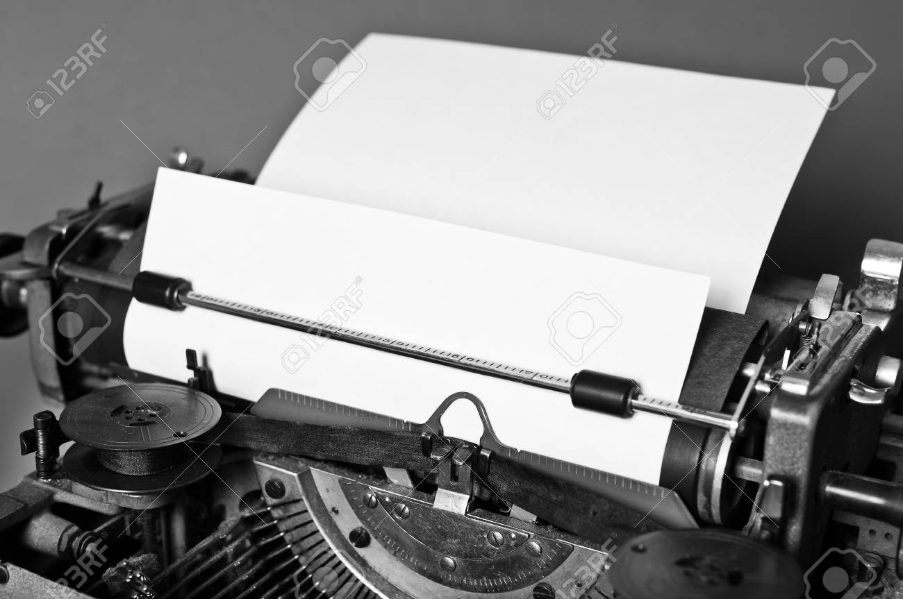 cd976efb200 Old Vintage Typewriter With Russian Keyboard Stock Photo, Picture ...