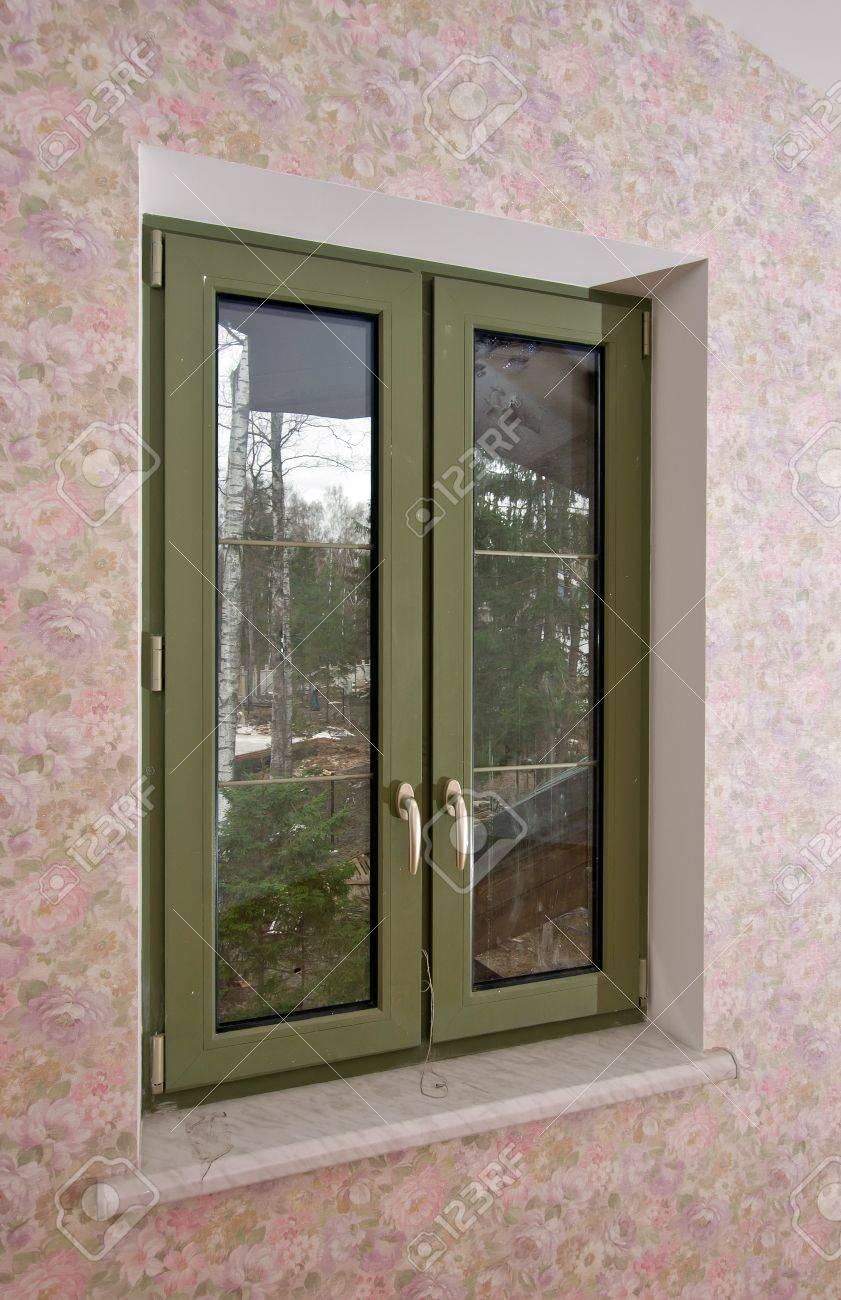 Fiberglass windows with decorative elements Stock Photo - 14224591