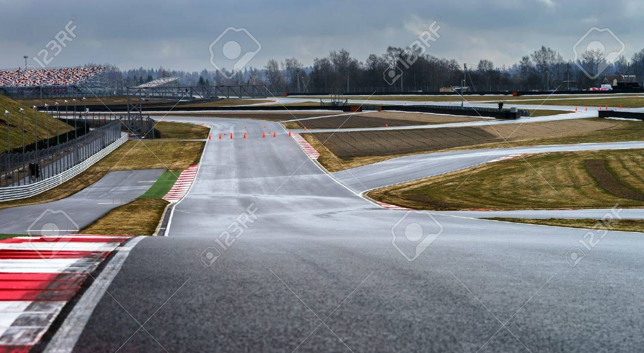 Race way track line for formula competition - 19841901