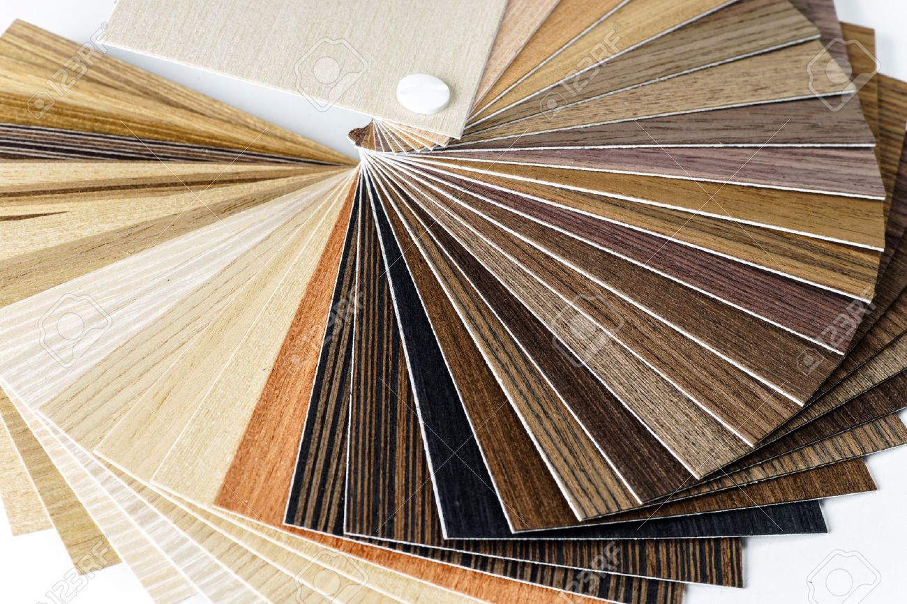 Stock photo thin wooden samples sheaf interior design industry