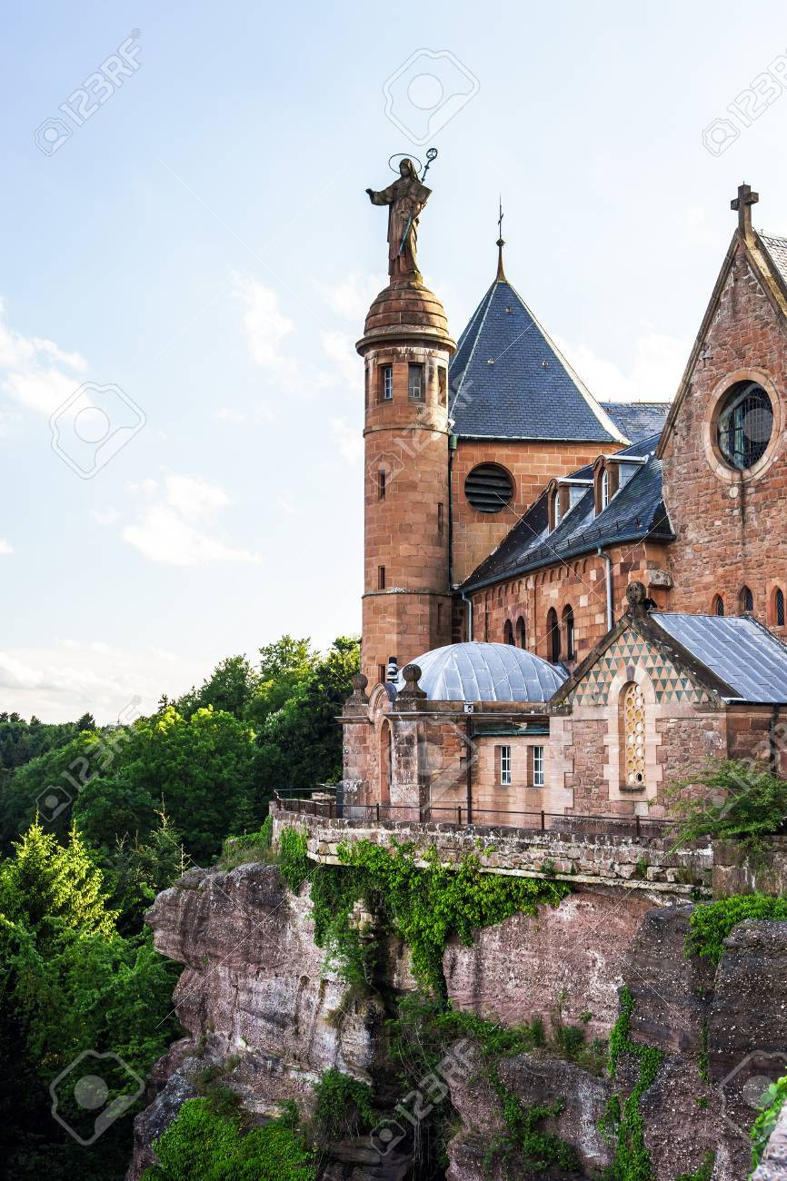 Classic french church in Alsace, France