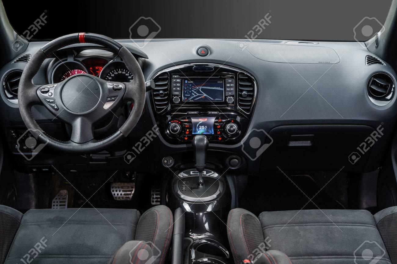 Modern luxury sport car dashboard, salon interior - 30596841