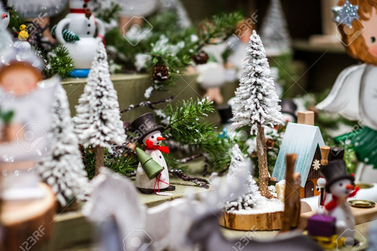 Traditional Christmas market with handmade souvenirs, Strasbourg, Alsace, France - 67212900