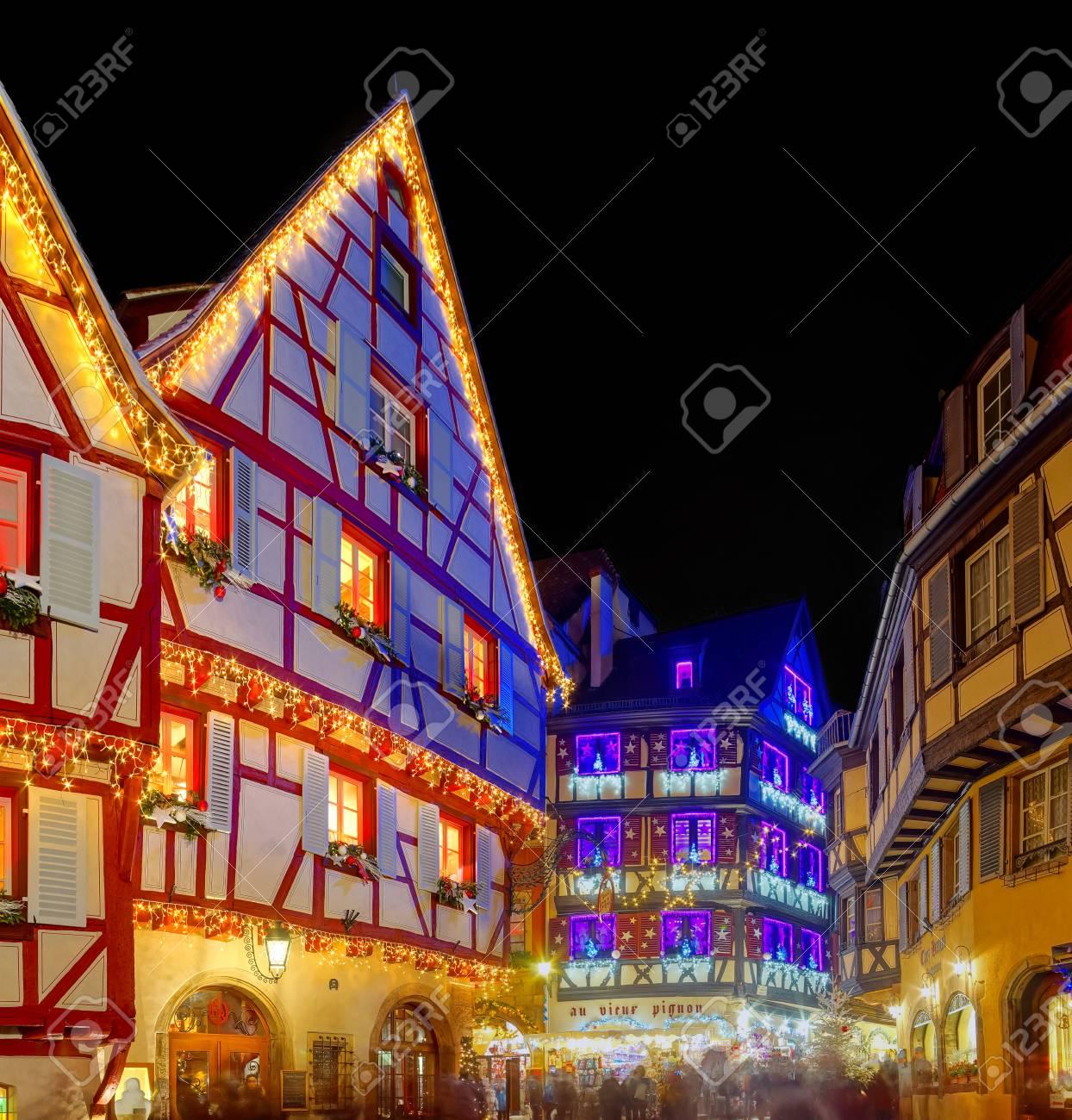 Wonderful Christmas Hervorhebung In Colmar, Elsass, Frankreich ...