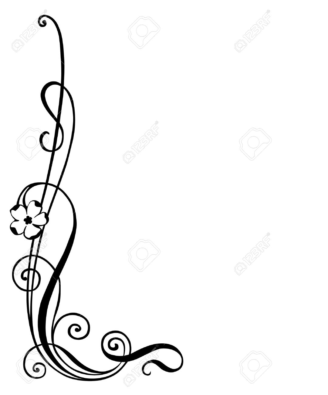 Vector   Vector Illustration Of Floral Ornament , Corner Decoration