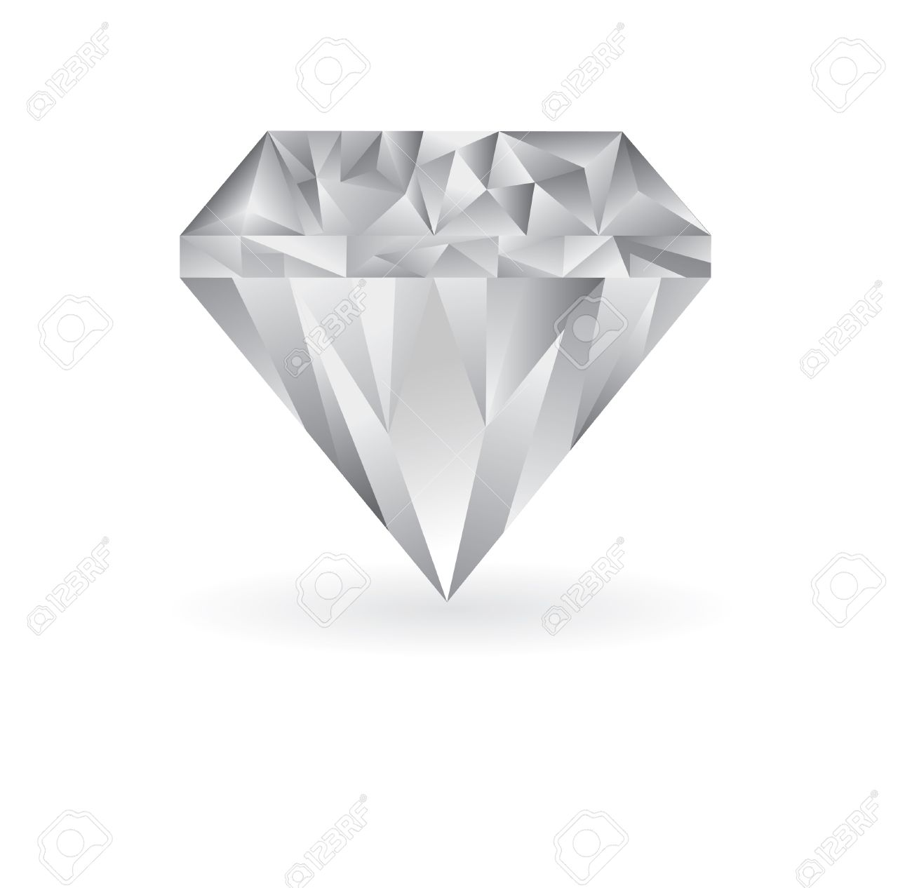 Cool white background - Cool Diamond Illustration On A White Background Stock Vector 6688160
