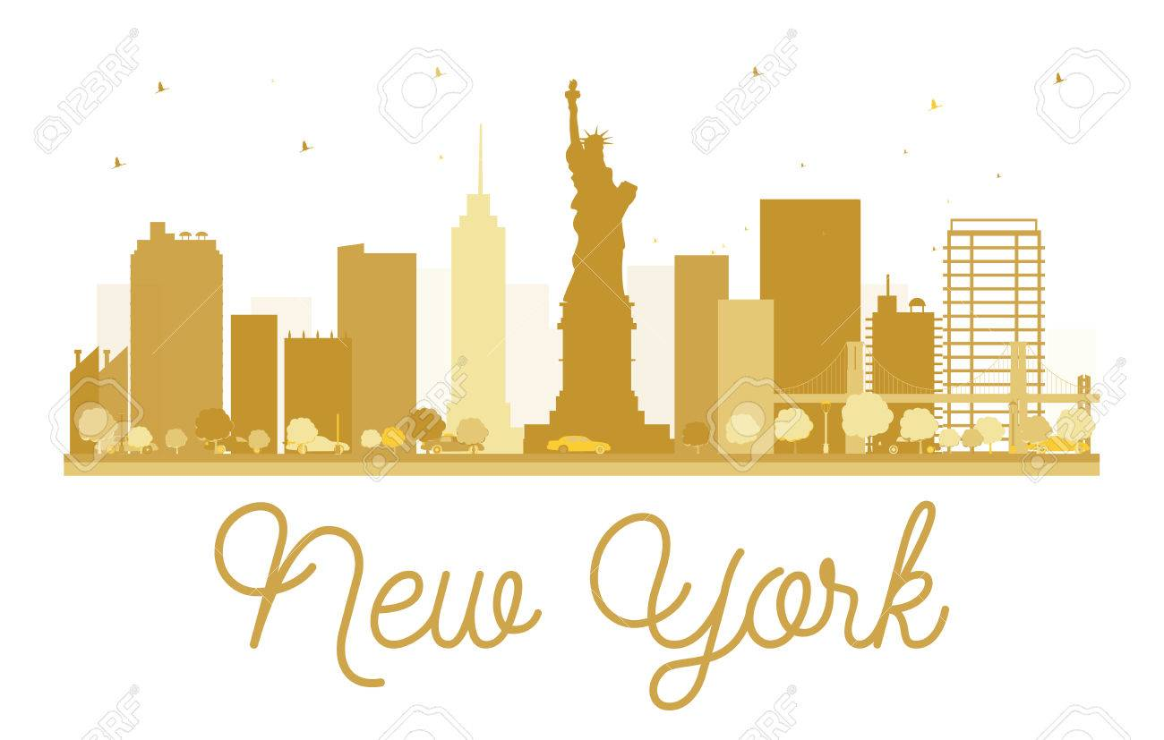 New York City Skyline Golden Silhouette Vector Illustration Royalty Free Cliparts Vectors And Stock Illustration Image 58041299