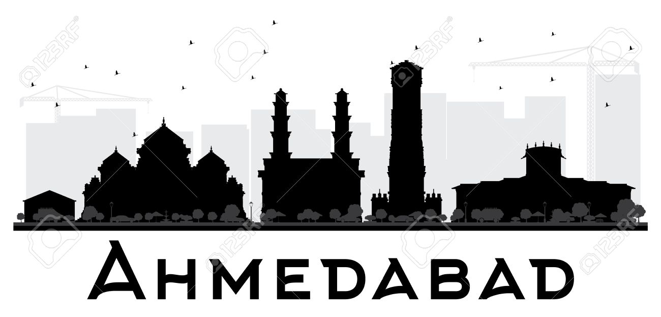 ahmedabad city skyline black and white silhouette vector rh 123rf com city victorville jobs city victoria tx