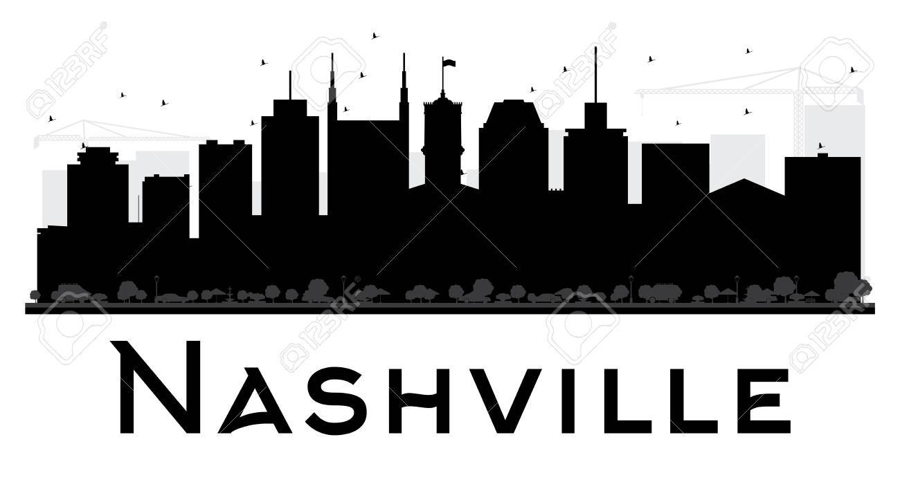 nashville city skyline black and white silhouette vector rh 123rf com skyline vector pack free skyline victory manufactured home