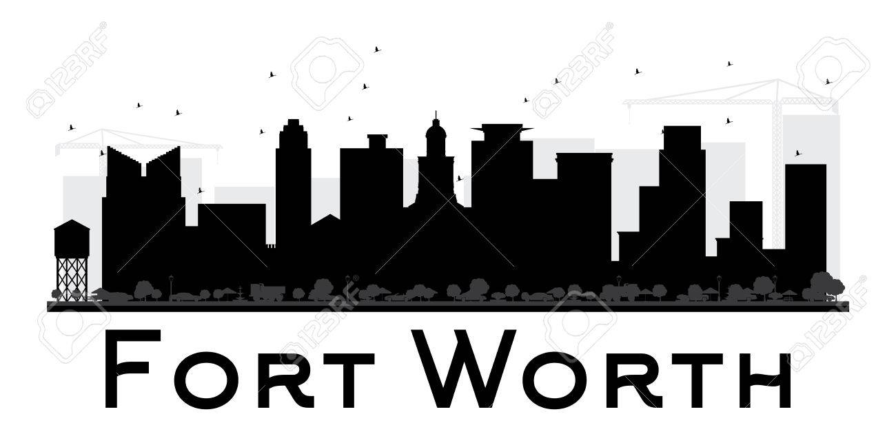 Fort Worth Skyline Black And White Wiring Diagrams House Diagram Santomieri Systemsrj45 Wire City Silhouette Simple Flat Rh 123rf Com Los Angeles