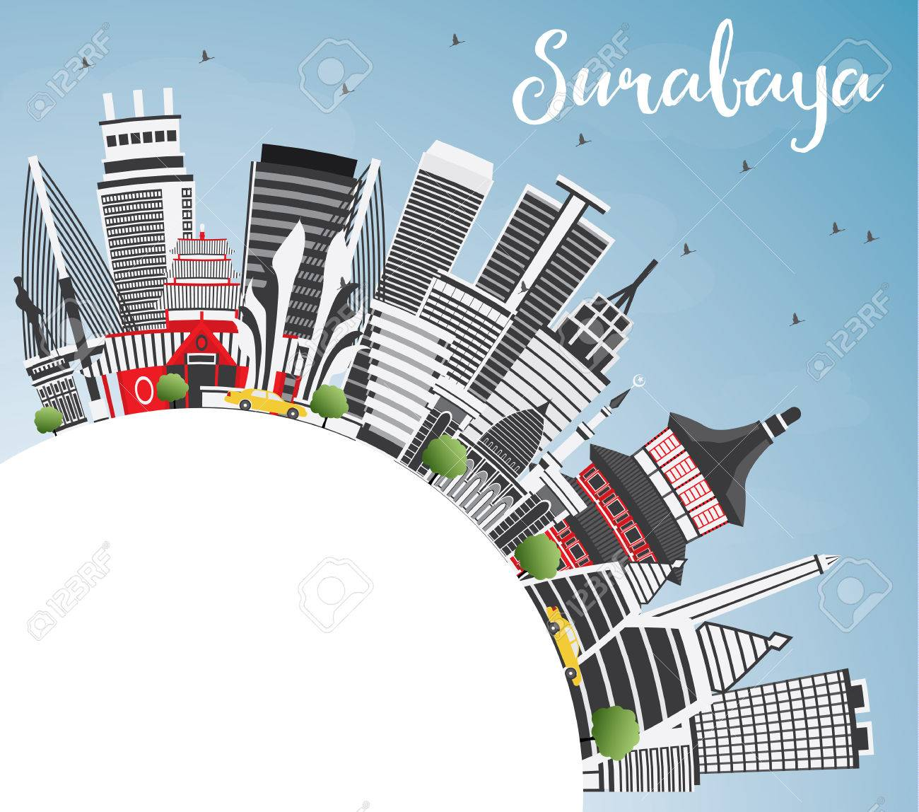 surabaya skyline with gray buildings blue sky and copy space royalty free cliparts vectors and stock illustration image 81067722 surabaya skyline with gray buildings blue sky and copy space