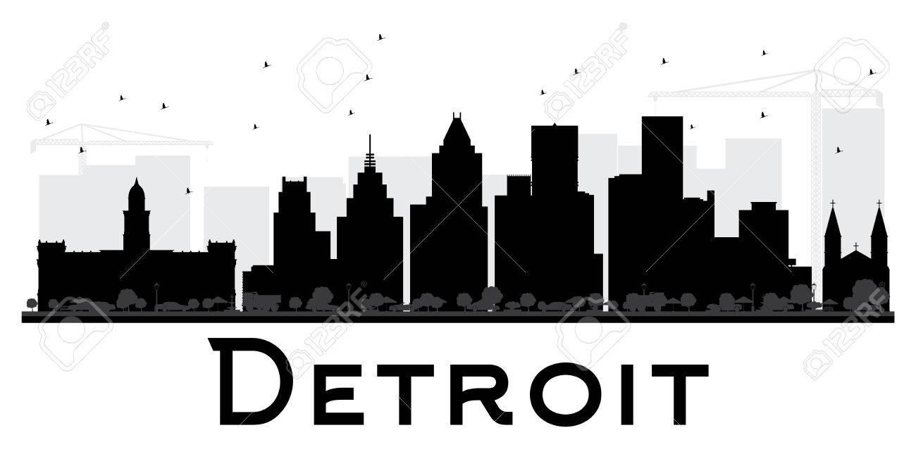202 detroit skyline stock vector illustration and royalty free rh 123rf com  detroit skyline outline vector