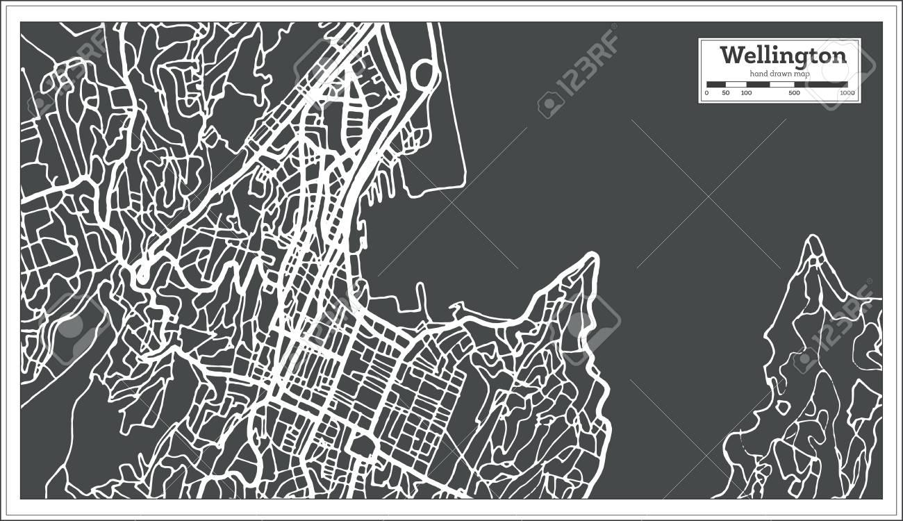 Cartina Muta Nuova Zelanda.Vettoriale Wellington Nuova Zelanda Mappa Della Citta In Stile Retro Cartina Muta Illustrazione Vettoriale Image 92577794