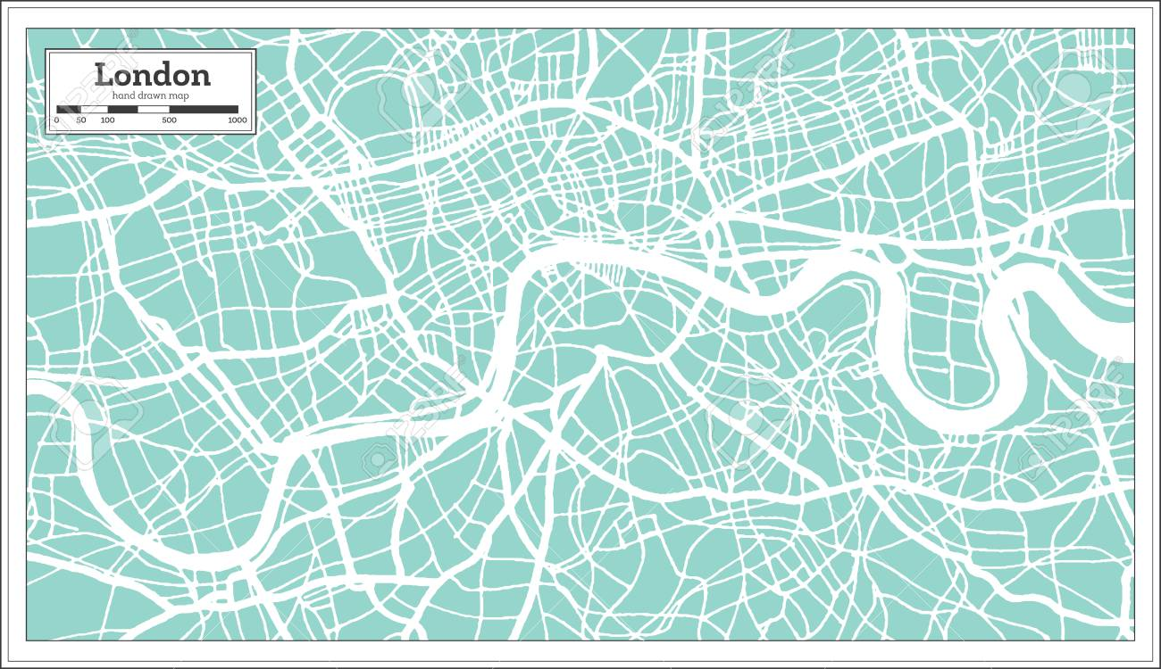 London England City Map.London England City Map In Retro Style Outline Map Vector Illustration