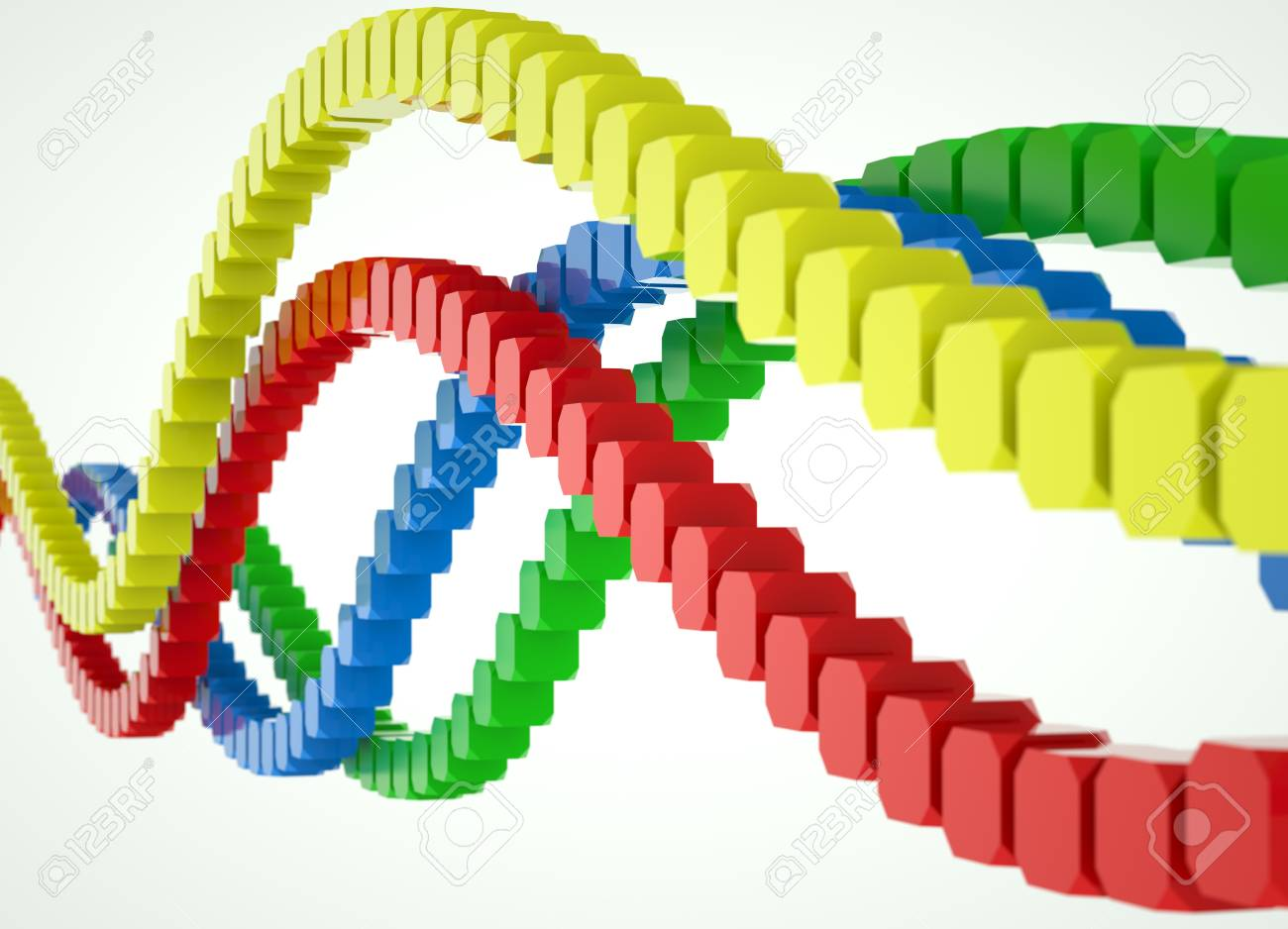 Colorful waves of blocks Stock Photo - 18844811