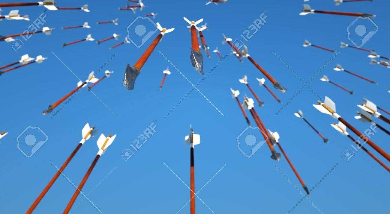 Shower Of Arrows Raining Down Stock Photo Picture And Royalty Free