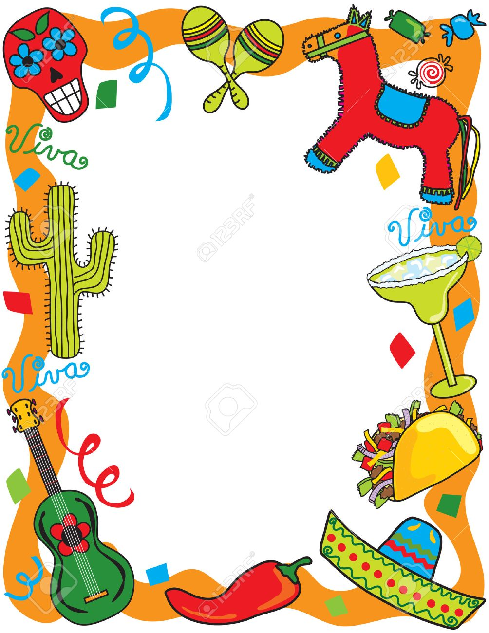 mexican fiesta party invitation royalty free cliparts vectors, invitation samples