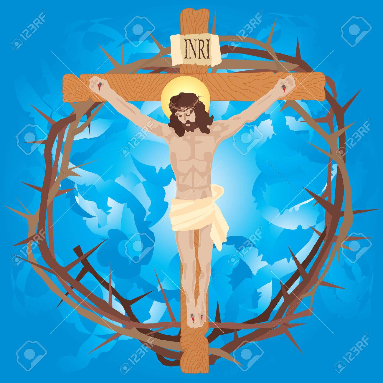 jesus is nailed to the cross stock photos u0026 pictures royalty free