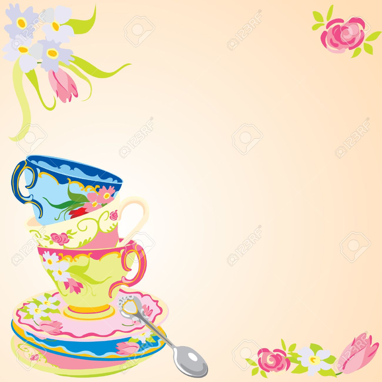 Tea Party Invitation Royalty Free Cliparts Vectors And – Invitation for Tea Party