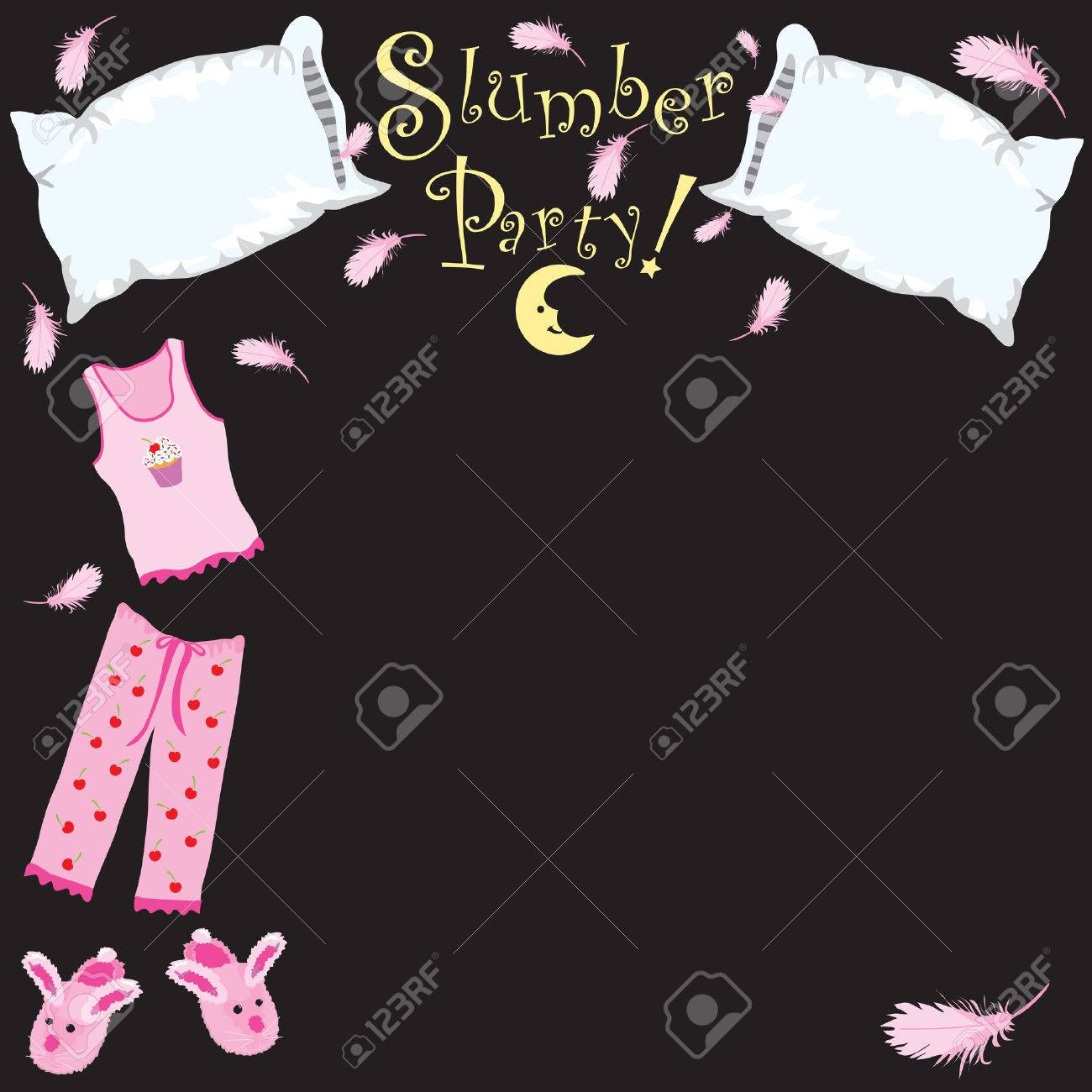 Slumber party invitation Stock Vector - 5867451