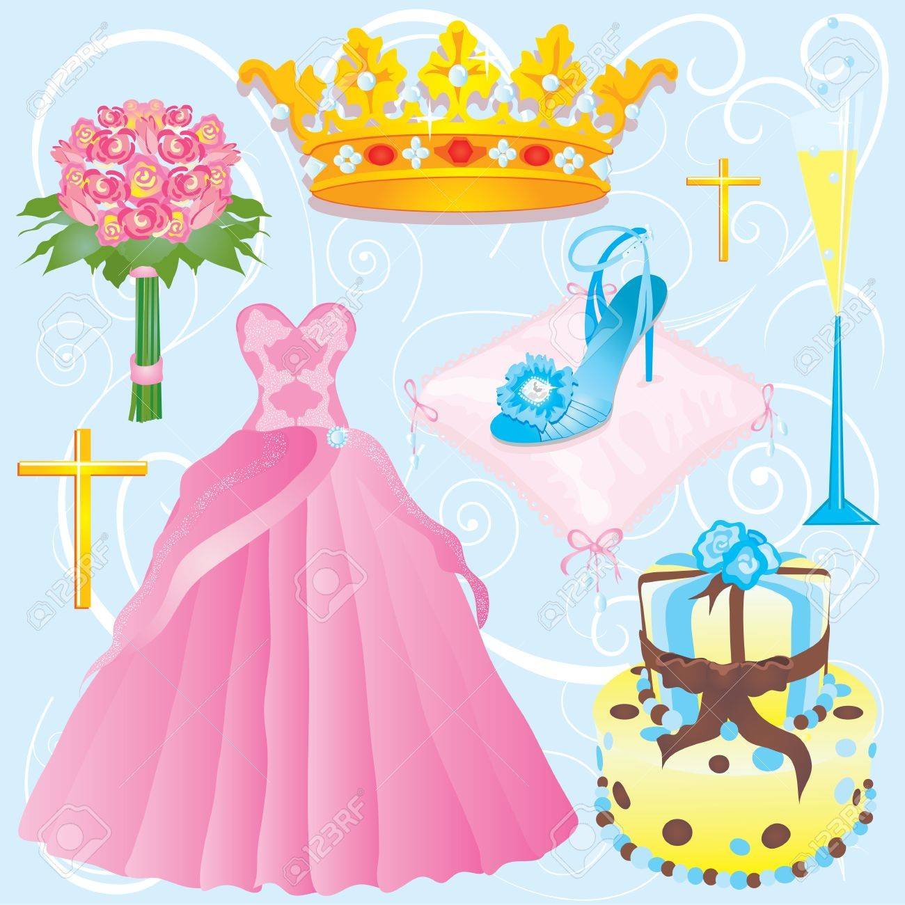 Quinceanera Clip Art Or Invitation For Your Party Royalty Free ...