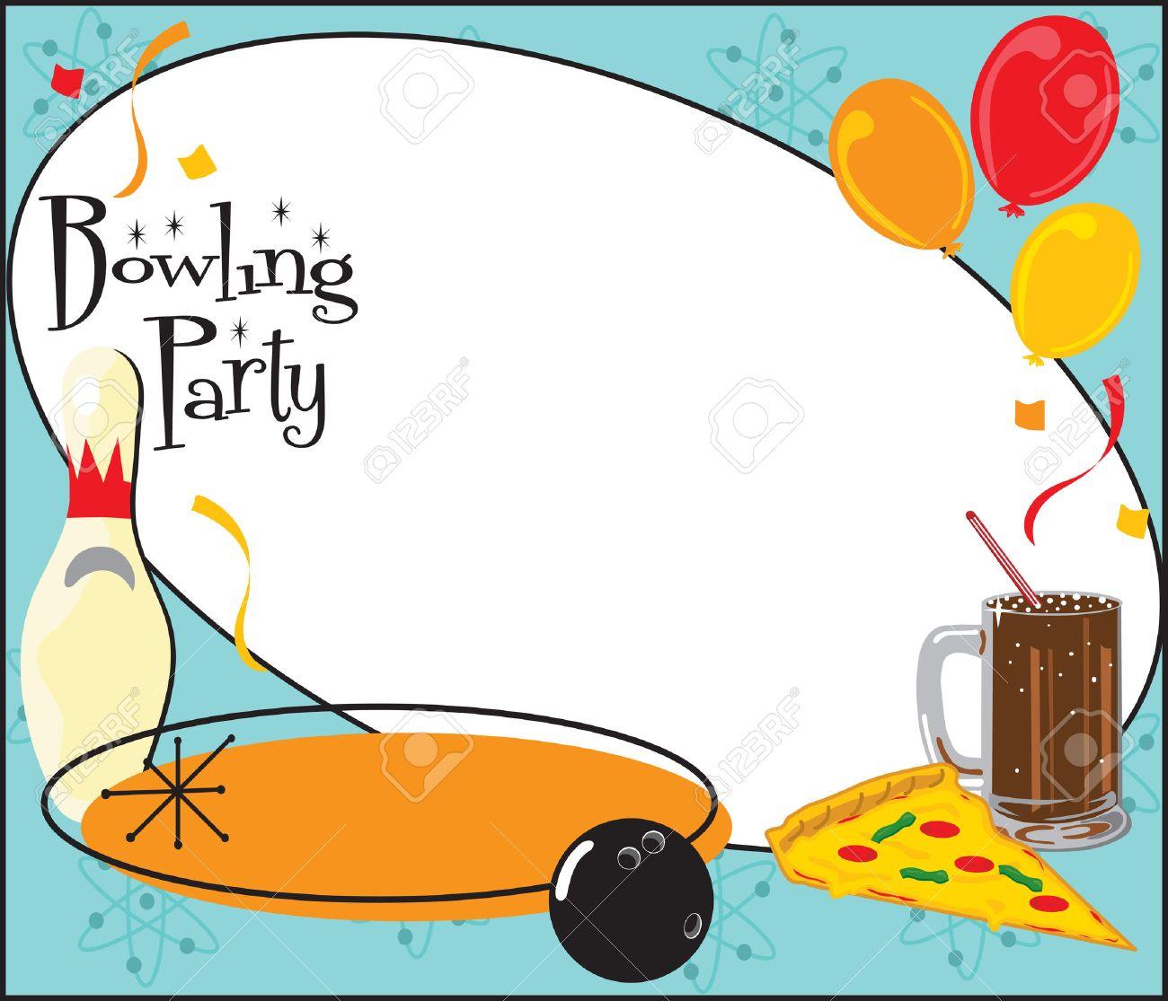 kinder oder erwachsenen bowling partei oder team einladung zur, Einladung