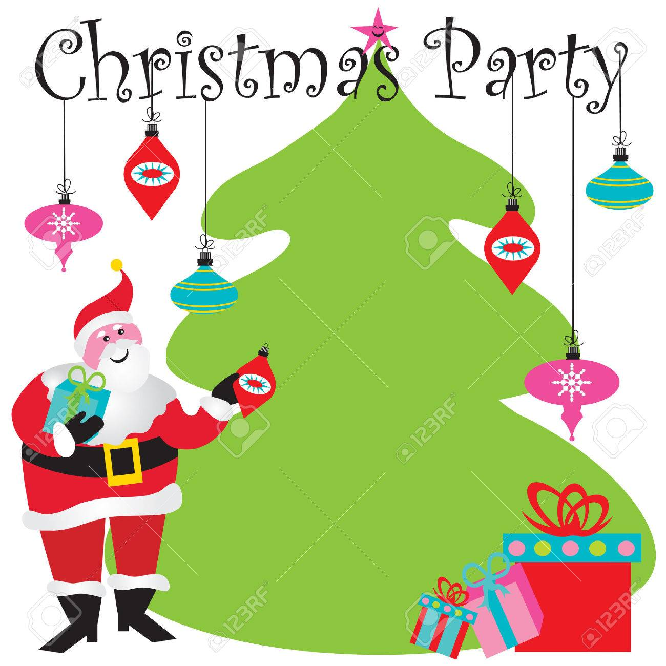 christmas party invitation room for your type royalty christmas party invitation room for your type stock vector 8176676