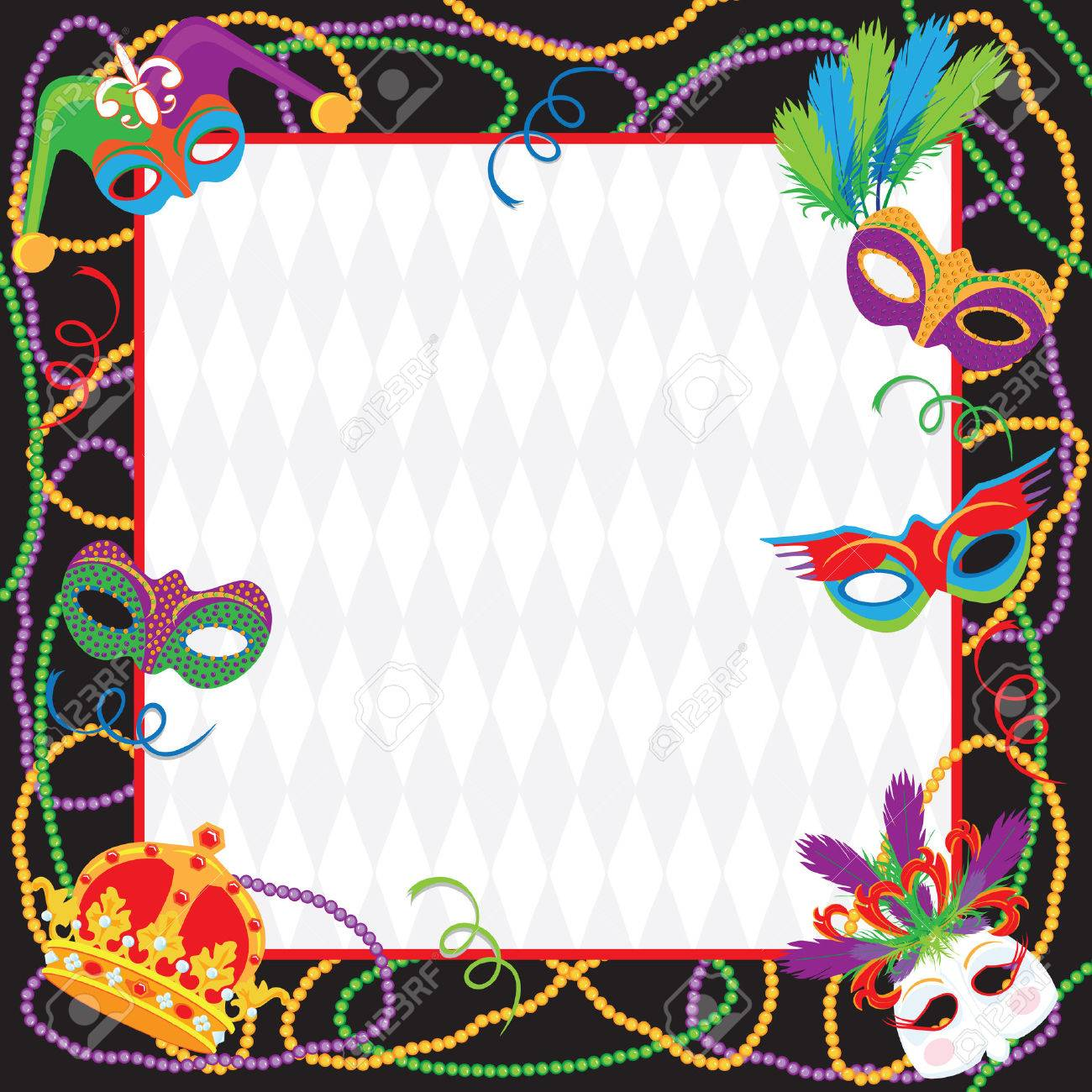 mardi gras party invitation royalty free cliparts, vectors, and, Party invitations