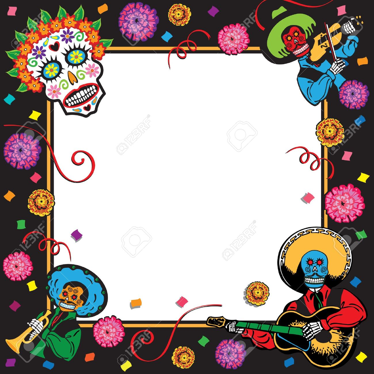 Day Of The Dead Party Invitation Royalty Free Cliparts Vectors And