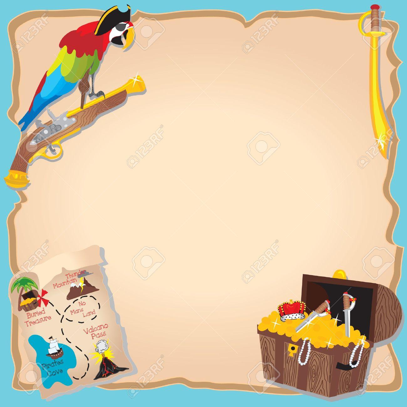 La Fiesta De Cumpleaños Pirata Y El Tesoro Invitación Caza Con El ...