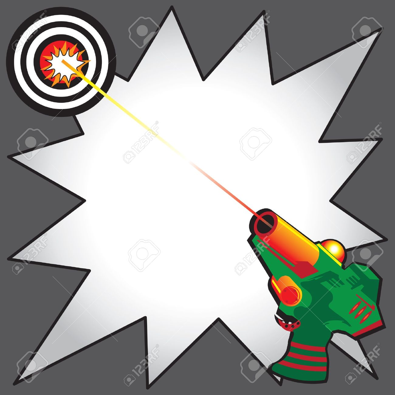 laser tag party invitation with colorful laser gun blasting a rh 123rf com Lock Clip Art Free Bocce Ball Clip Art Free