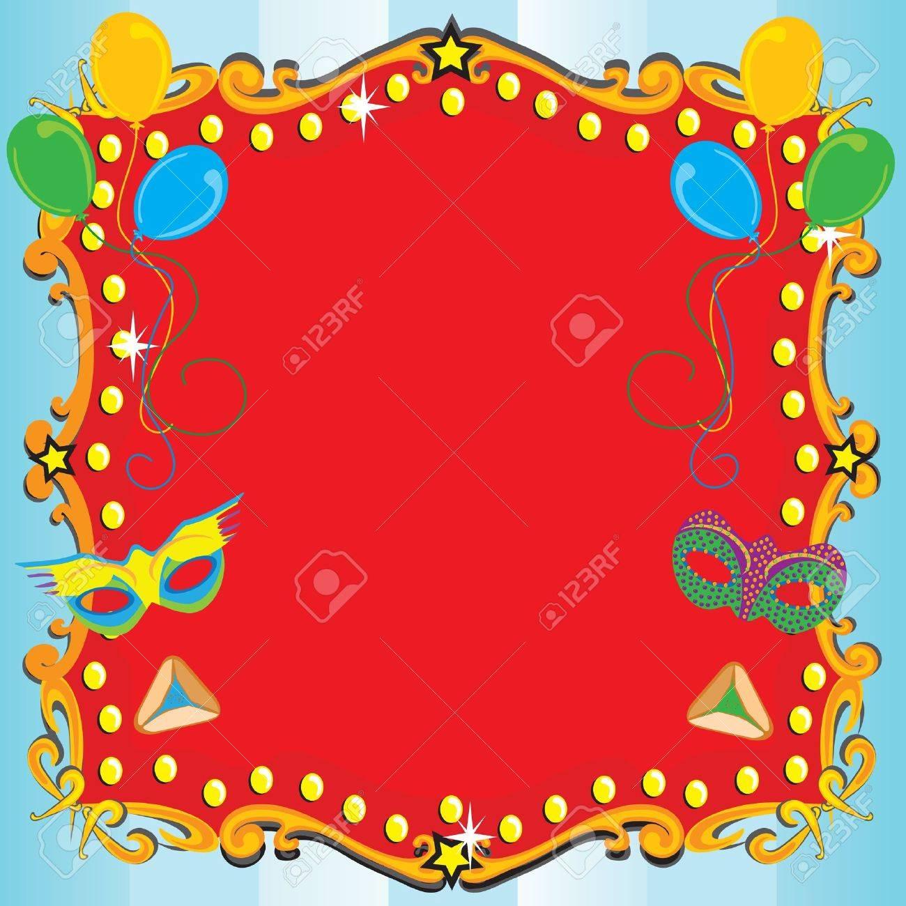 purim karneval party-einladung plakat mit rotem festzelt, Einladungen