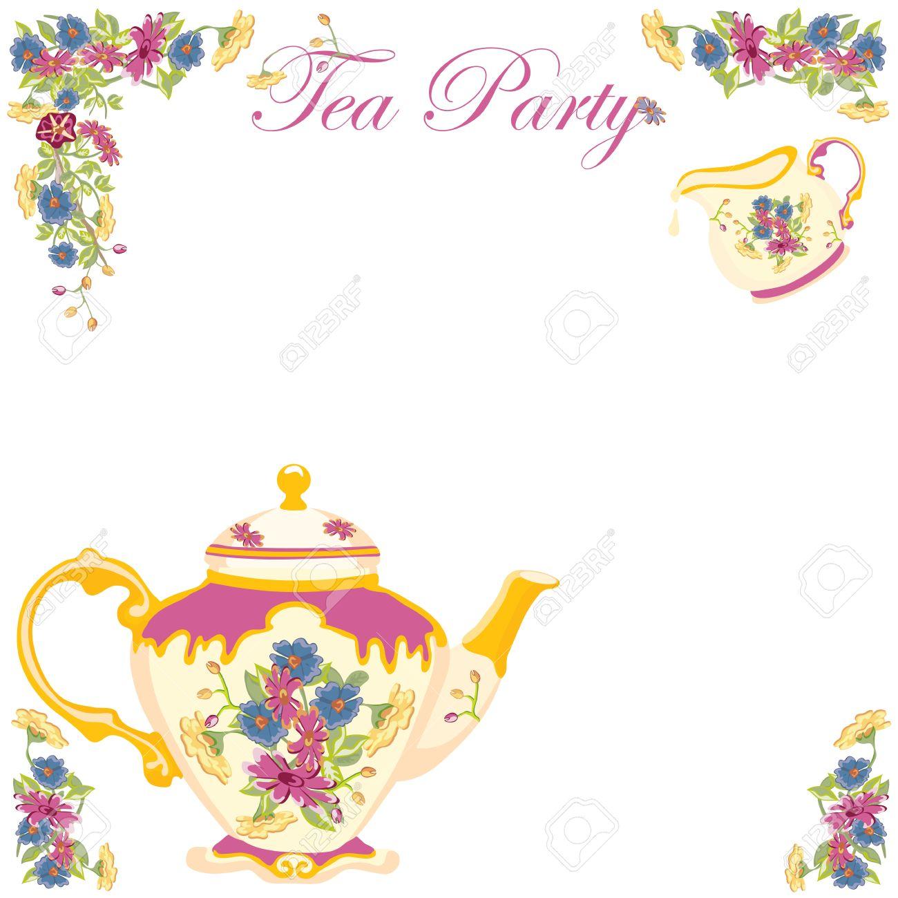 Victorian Tea Pot Party Invitation