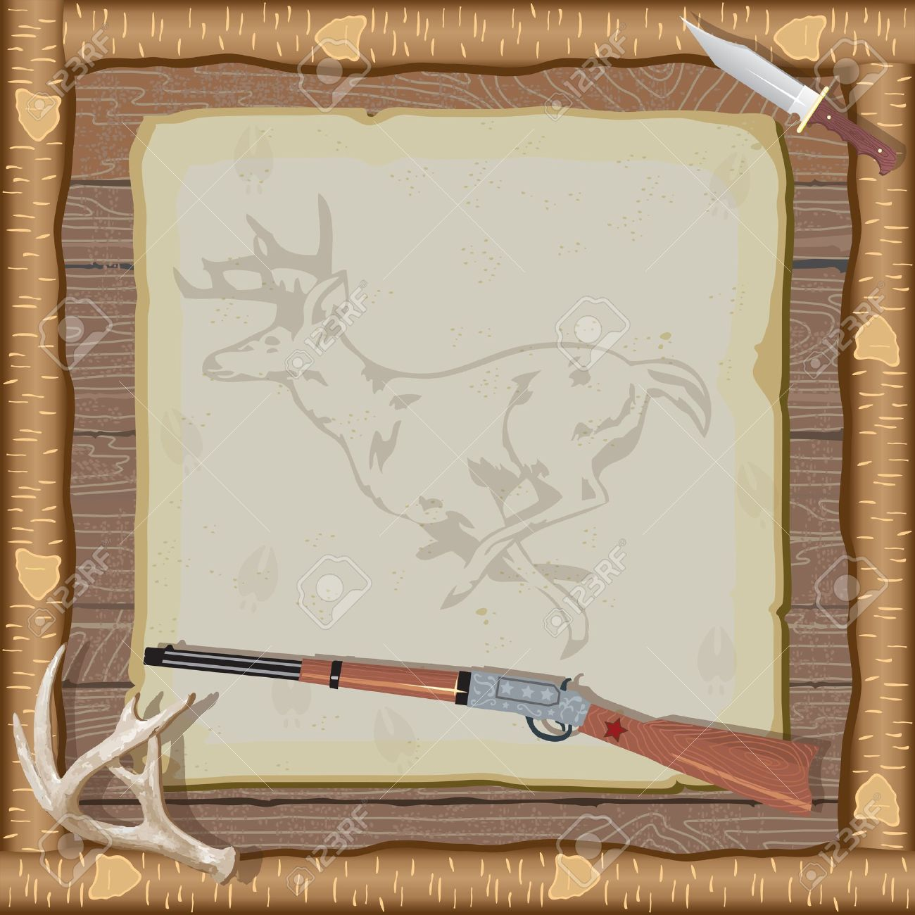 Rustic Hunting Party Invitation With Rifle Hunting Knife Deer – Hunting Party Invitations