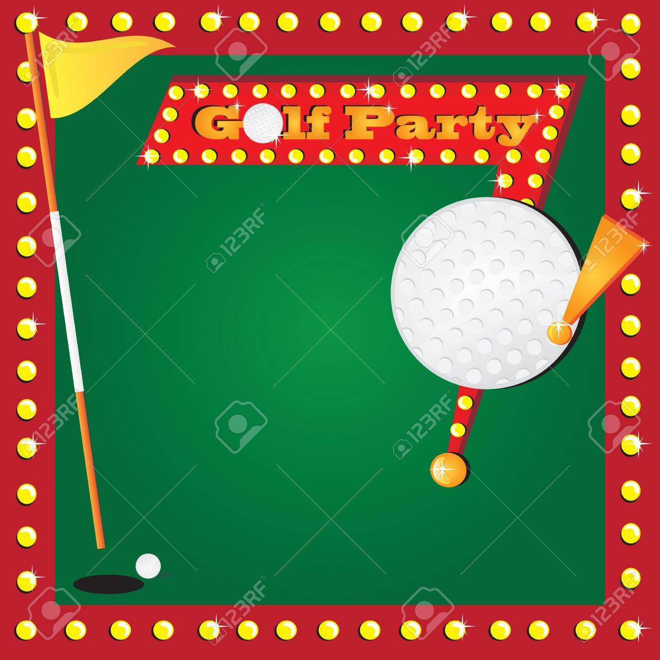 Super Fun Golf Or Miniature Golf Party Invitation With Glowing – Mini Golf Birthday Party Invitations
