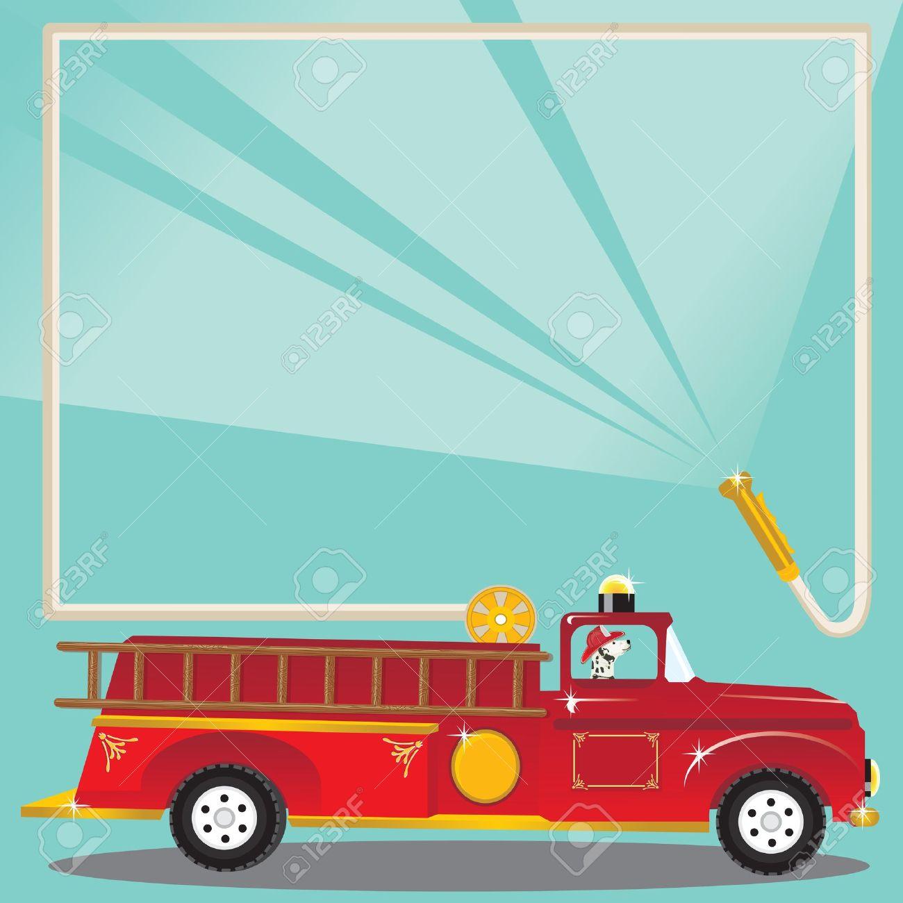 Firetruck Birthday Party Invitation Super Cute Firetruck With – Firetruck Birthday Invitations