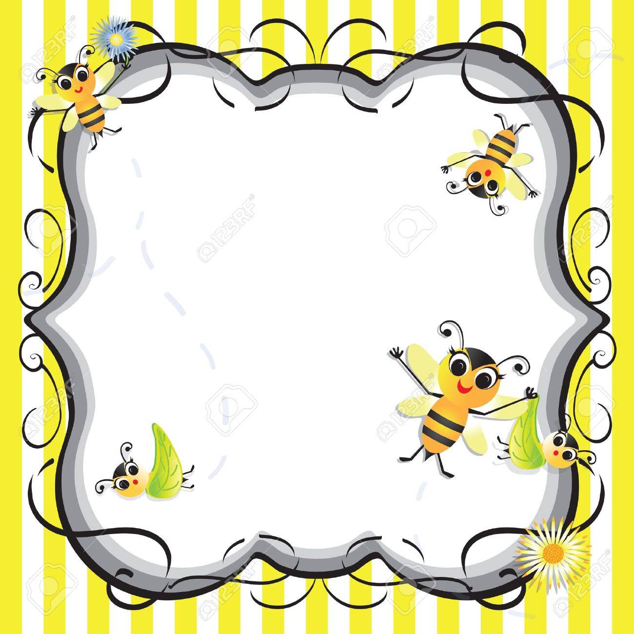 Cute bee baby shower party invitation Stock Vector - 13387667