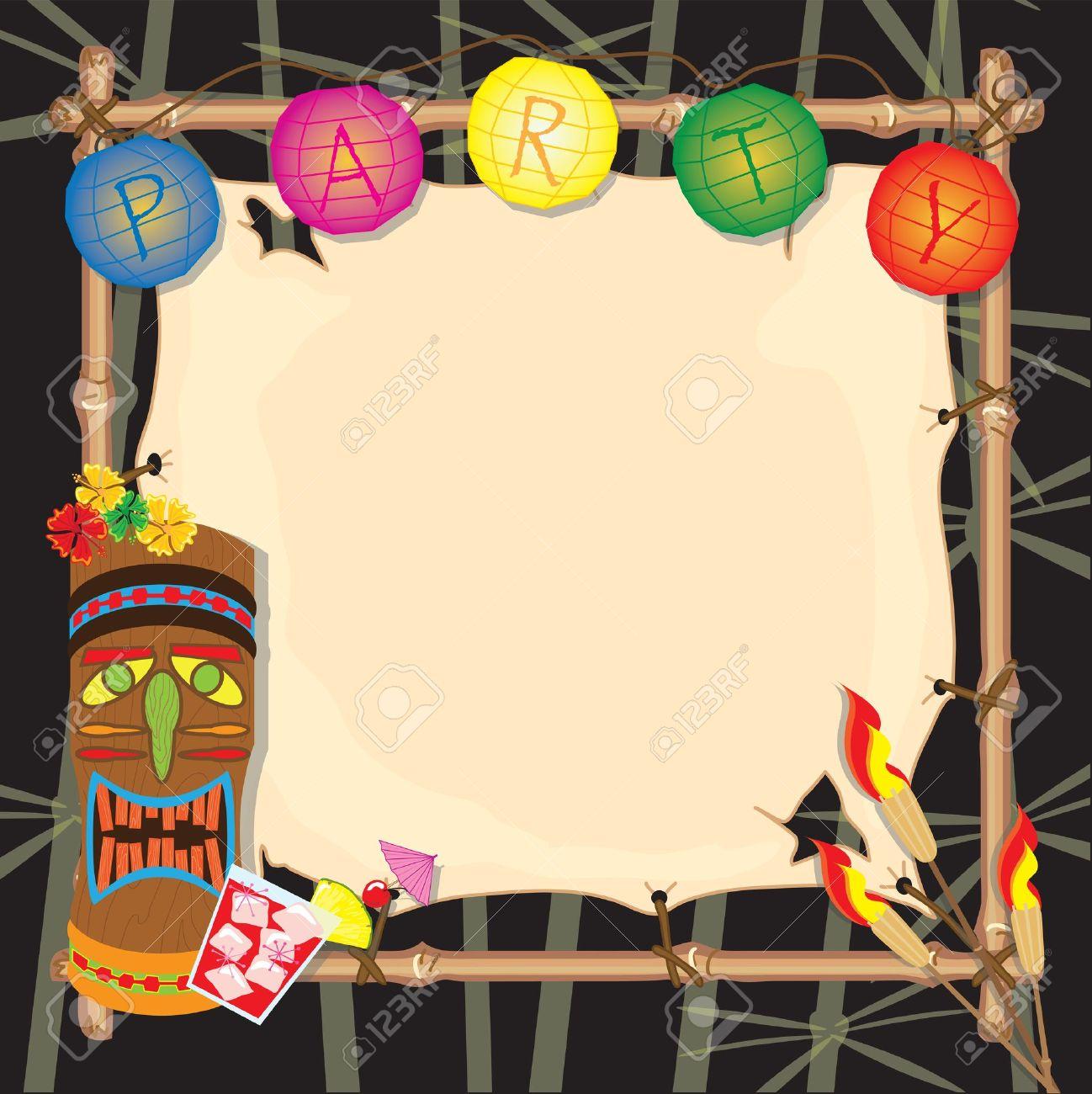 Tropical retro tiki or luau party invitation royalty free cliparts tropical retro tiki or luau party invitation stock vector 13387671 stopboris Gallery