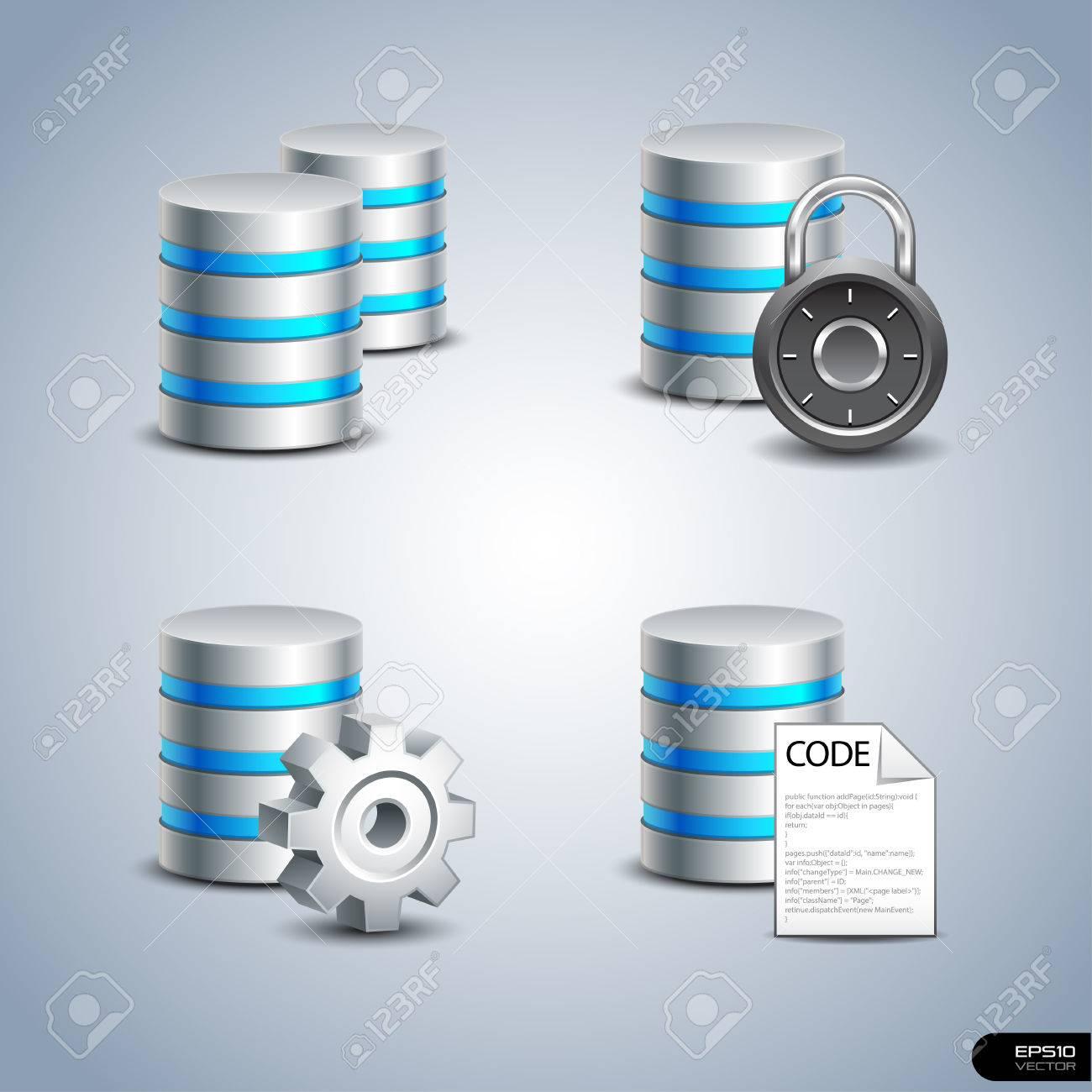 Database Icon set 1