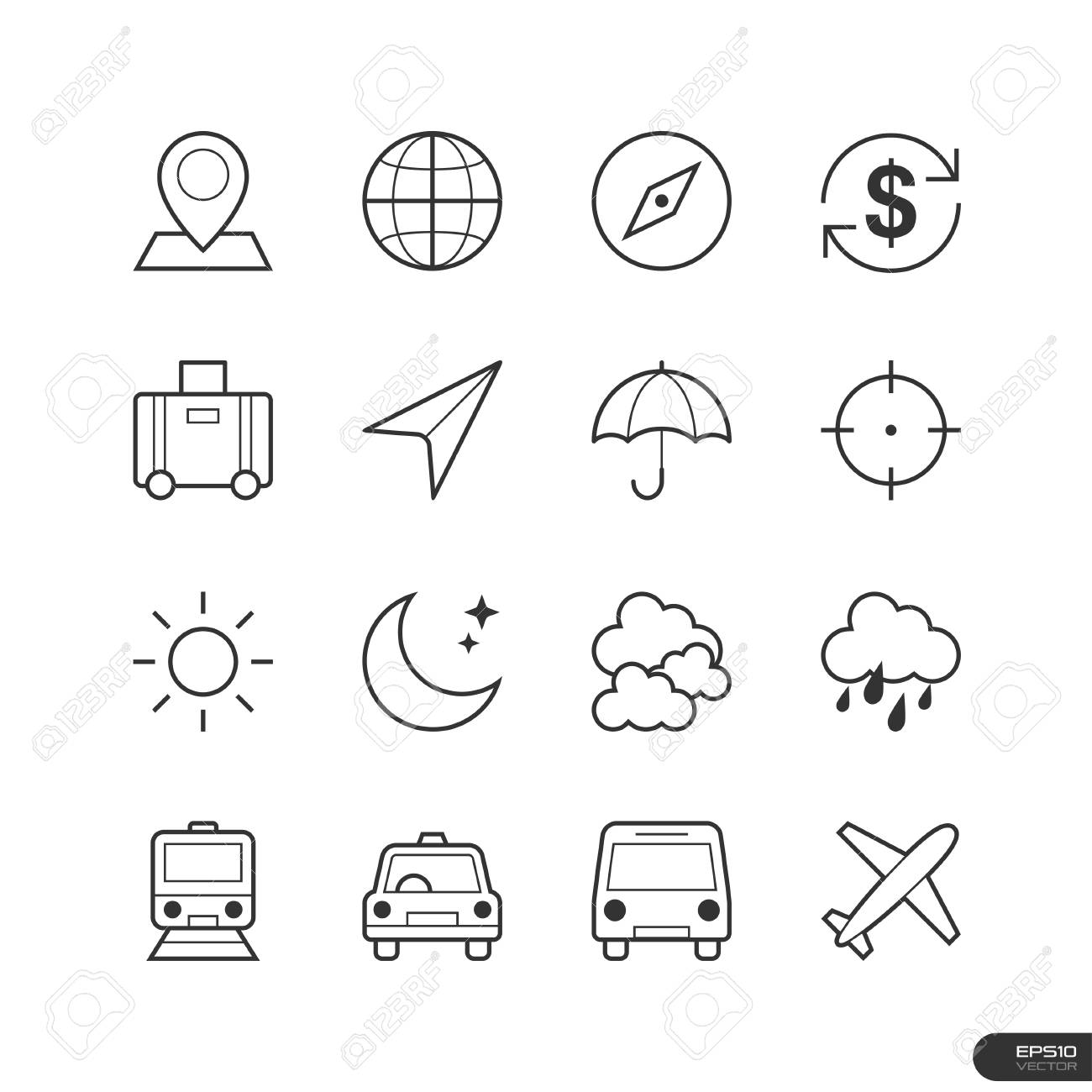 Travel Icons set Stock Vector - 26776932