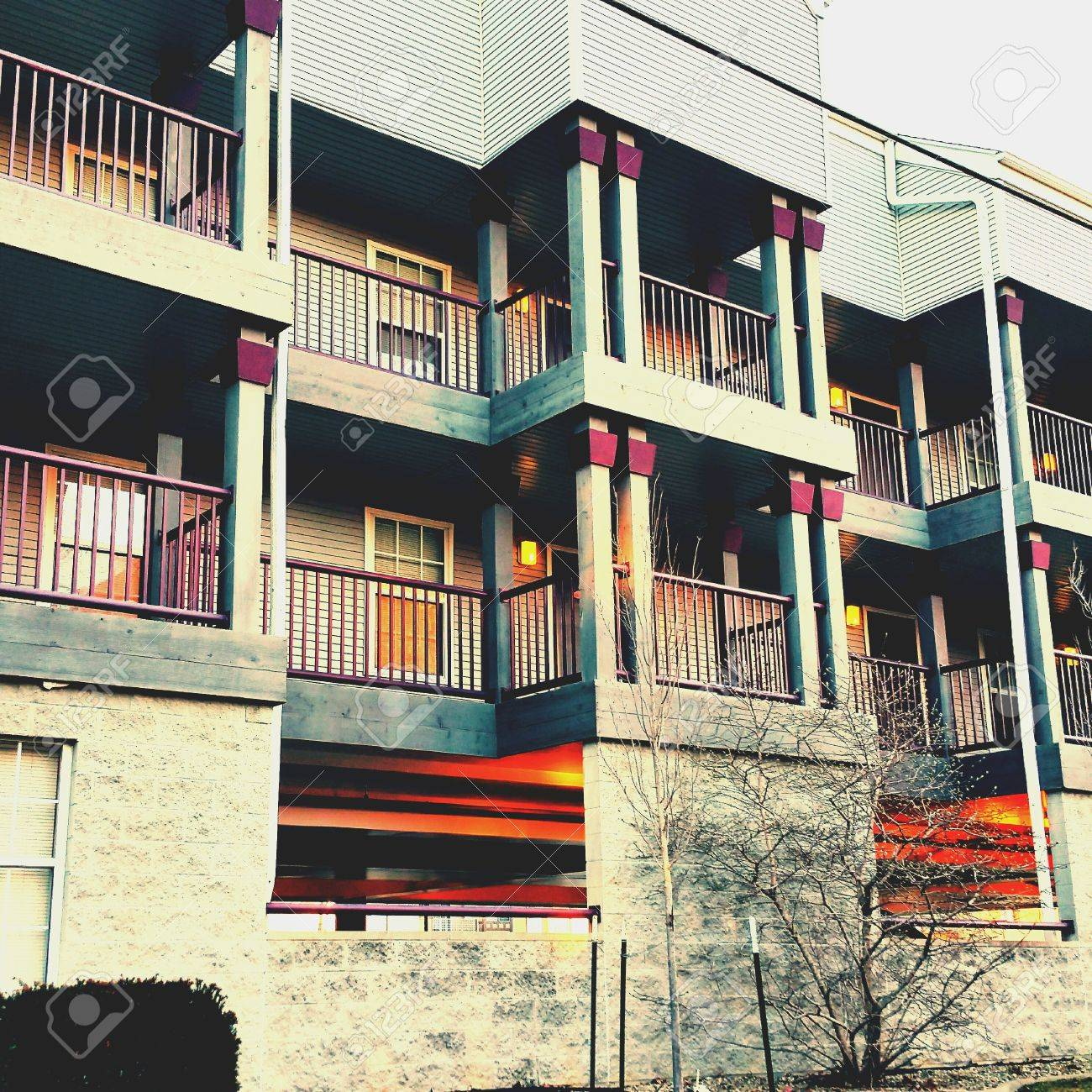 nice apartment complex in il stock photo picture and royalty free
