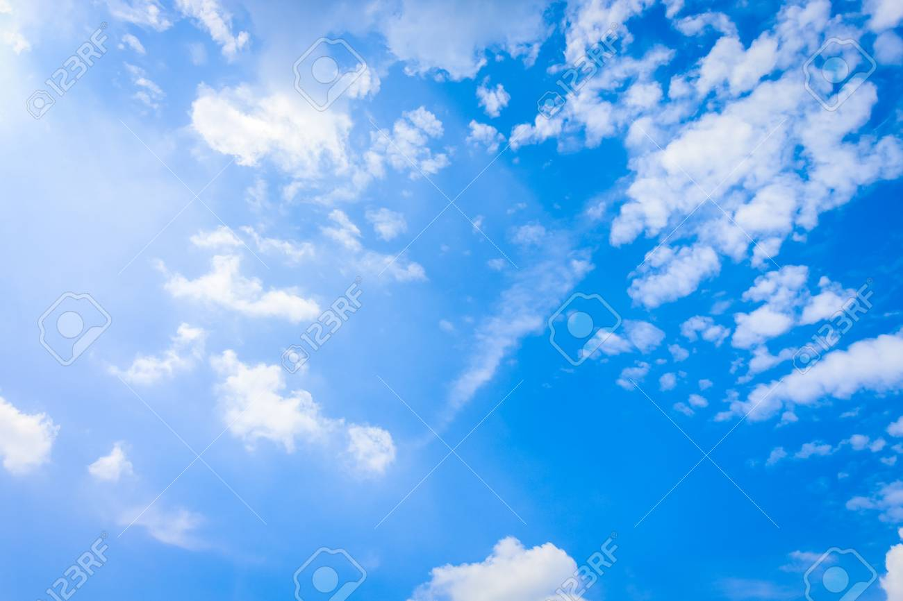 Clear Blue Sky With Cloudy As A Background Wallpaper Pastel