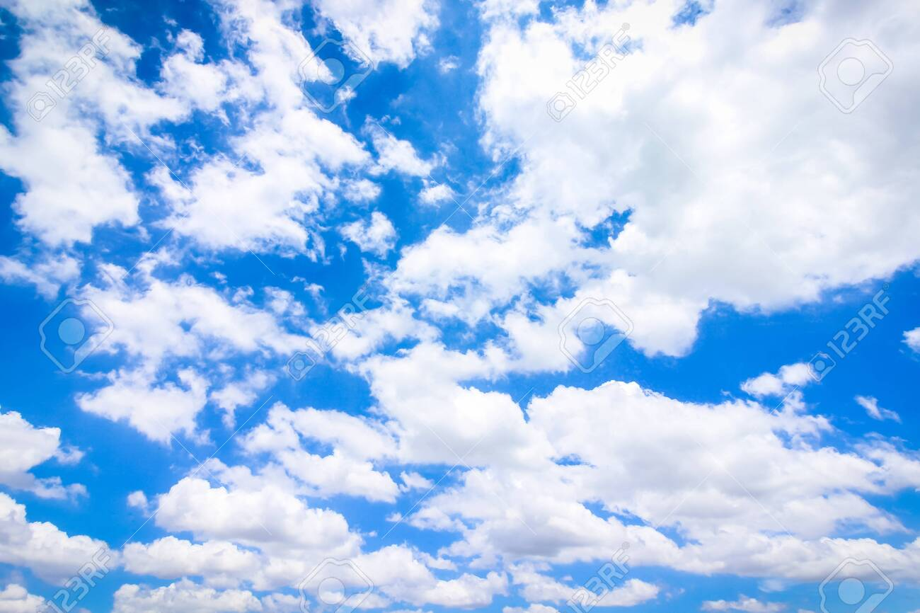 Clear Blue Sky With Cloudy As A Background Wallpaper, Pastel Sky ...