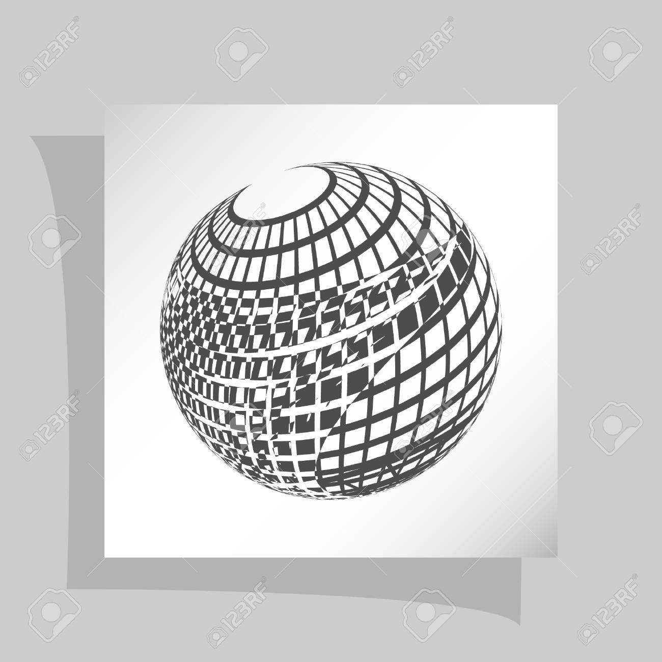 Wire-frame Design Element. Sphere Stock Vector Illustration Royalty ...