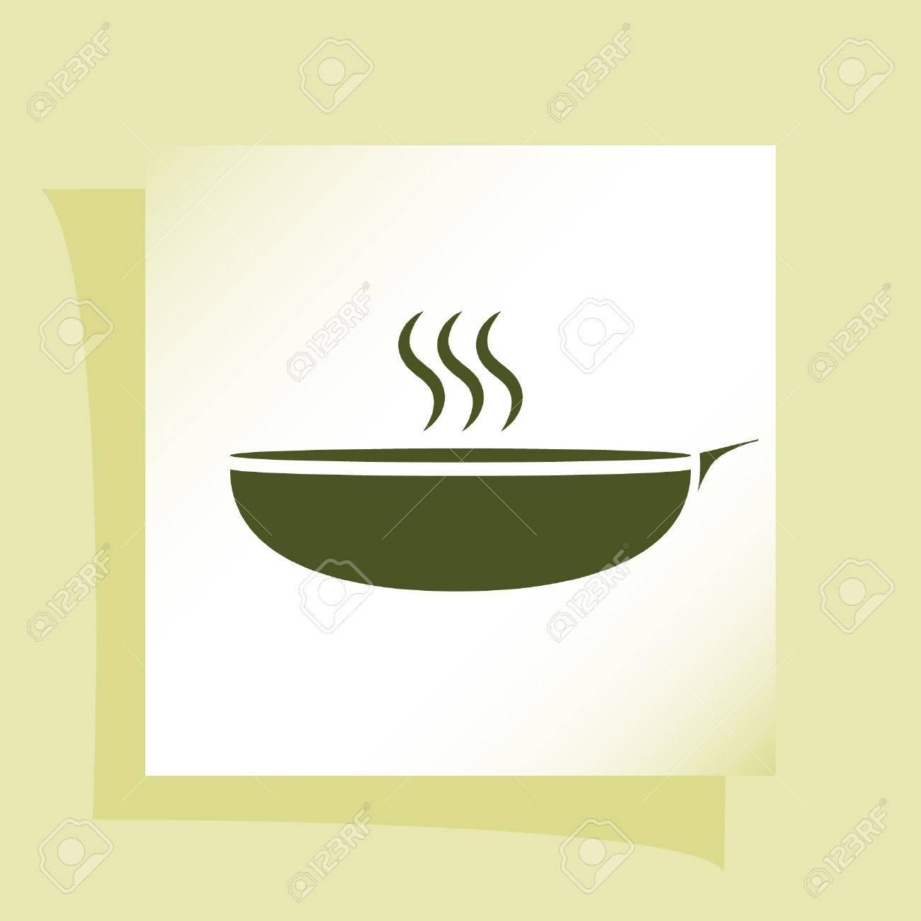 温かい食事適切なプレート ベクトル イラスト アイコンのイラスト素材
