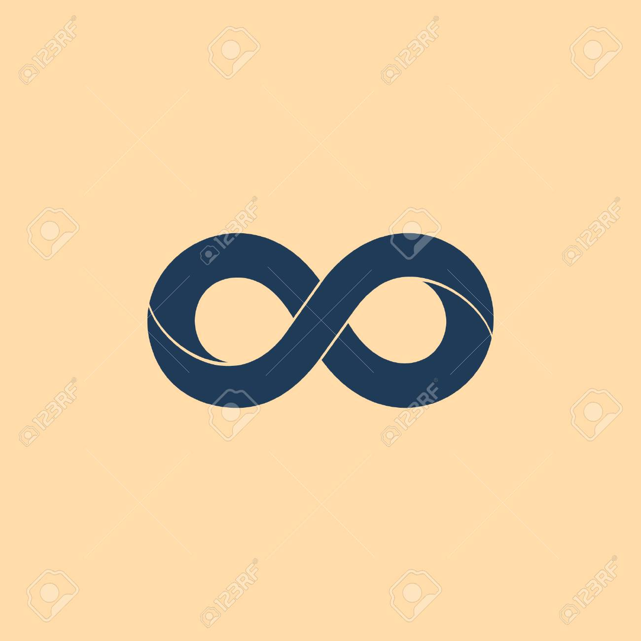 Limitless Sign Icon Infinity Symbol Isolated Royalty Free Cliparts