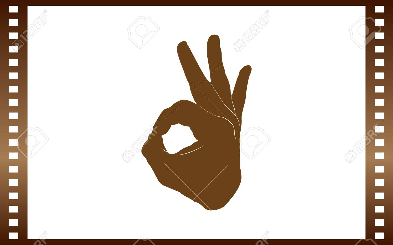 Human Hand Showing Ok Sight Fingers Showing Symbol Of A Great