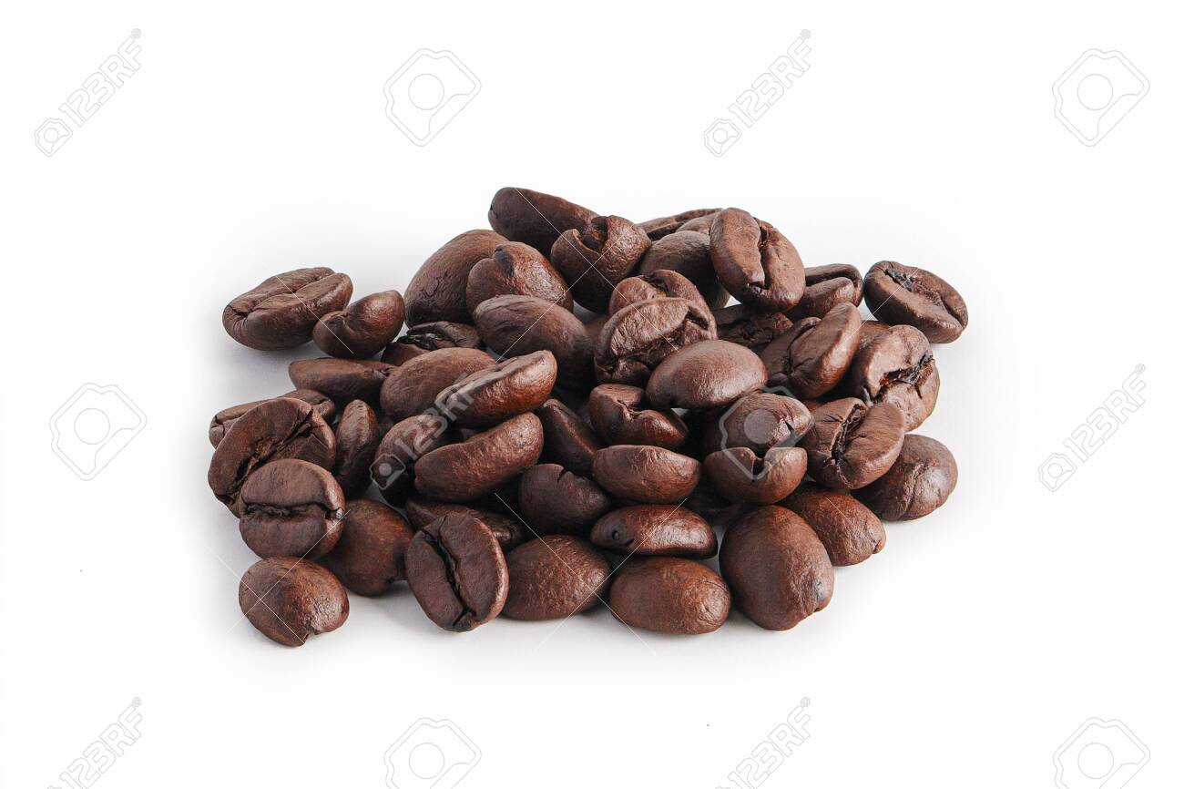 coffee beans on white background - 122191612