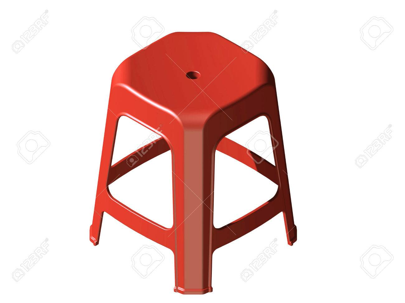 3D plastic stool chair Isometric view Red color Stock Photo - 25836898  sc 1 st  123RF Stock Photos & 3D Plastic Stool Chair Isometric View Red Color Stock Photo ... islam-shia.org