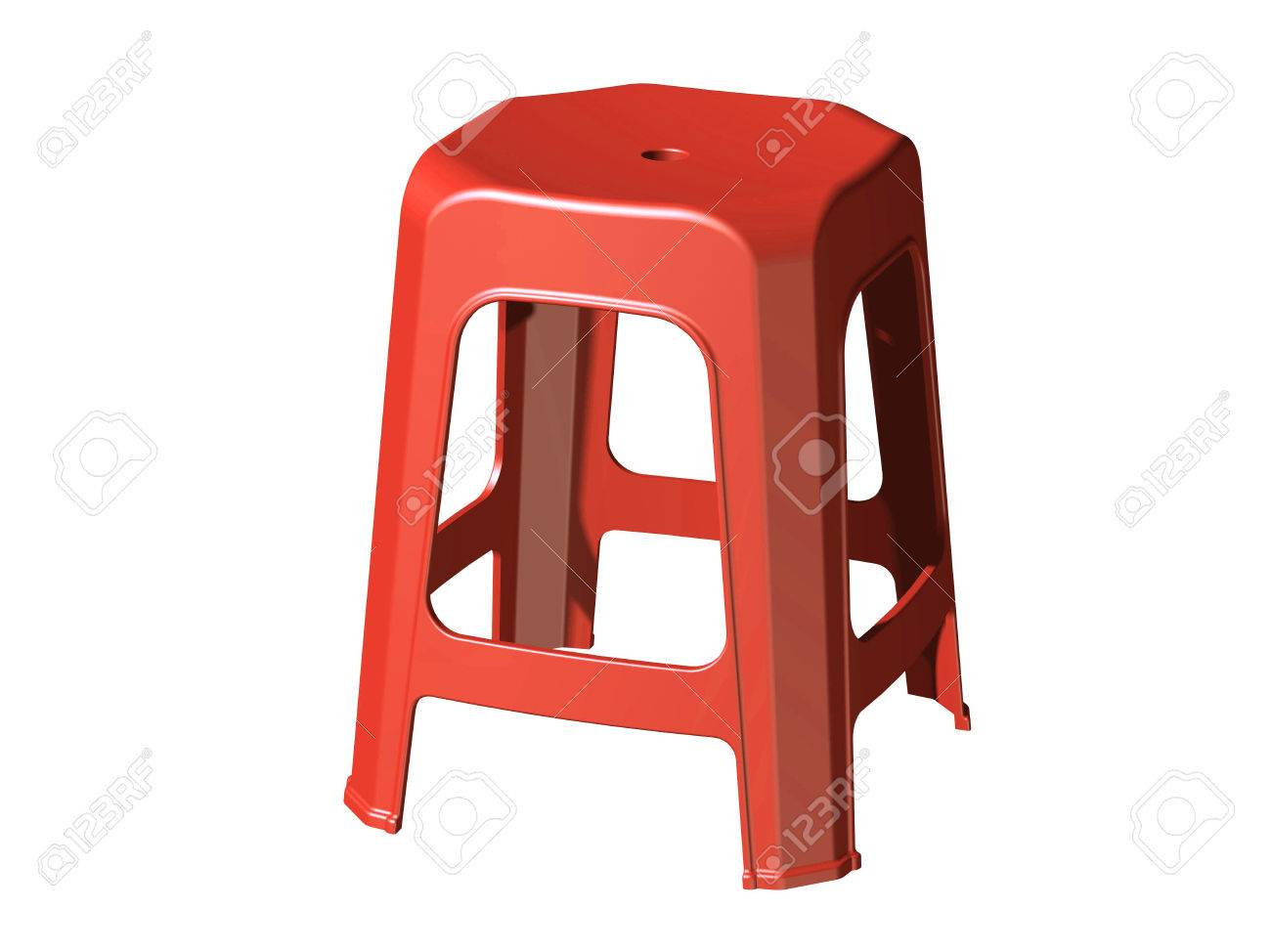 3D plastic stool chair perspective view Red color Stock Photo - 25836900  sc 1 st  123RF Stock Photos & 3D Plastic Stool Chair Perspective View Red Color Stock Photo ... islam-shia.org